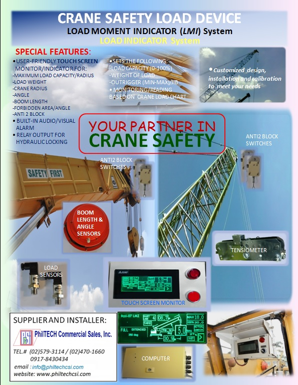 Safe Load Indicator Systems : Crane safety device philtech commercial sales inc